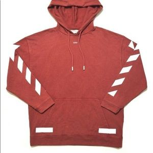 Off white red/maroon seeing things hoodie